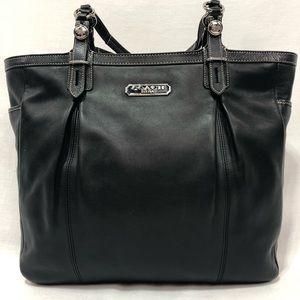 EUC COACH black leather tote bag.